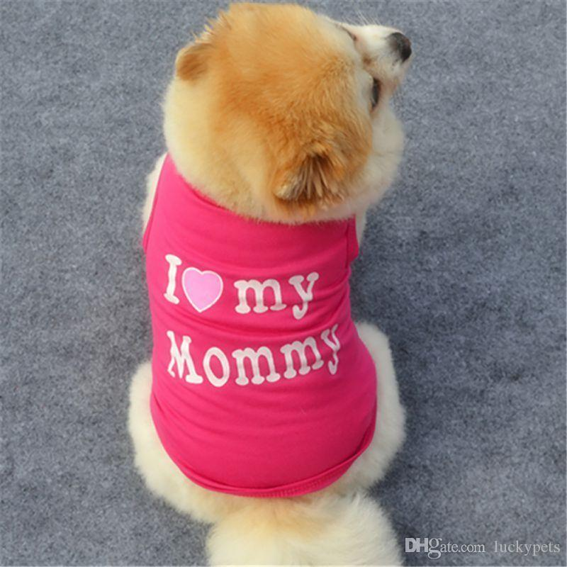 Small Pet Dog Apparel Vest Puppy Cat Coat T-shirt Summer Fall Vest Clothes New With Black Pink Red