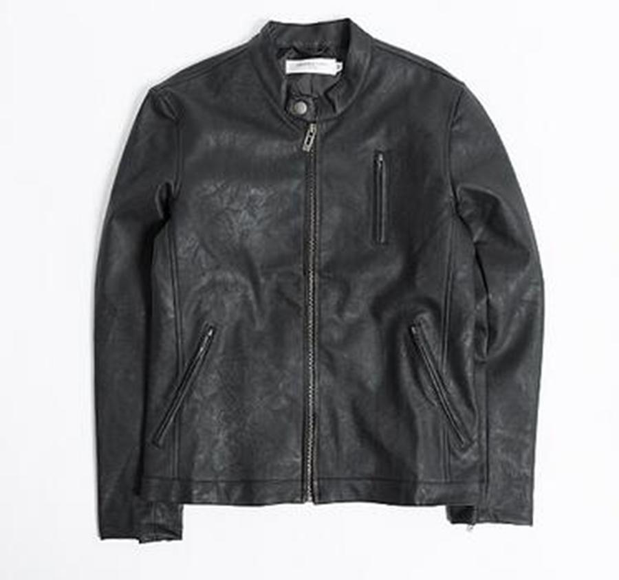 Nuovi uomini primavera uomini colletto giacca abbigliamento in pelle tendenza giacca slim design corto costumi tuta cantante / M-2xl