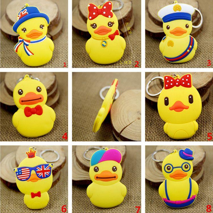 Hot Cartoon Piccolo giallo anatra pendente Charms Cellphone Classic anatra stile cartoon Portachiavi Ciondolo giocattolo IB423