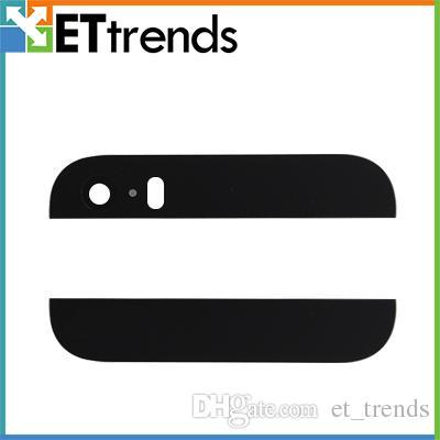 Alta Qualidade Top Botton vidro para iPhone 5s Superior Inferior conjunto da tampa de vidro com lente da câmera flash difusor navio livre por DHL