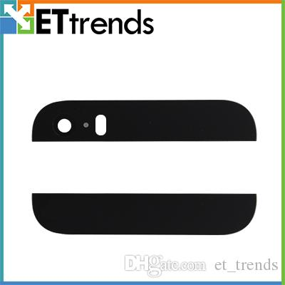 High Quality Top Botton glass for iPhone 5s Top & Bottom Glass Cover Assembly with Camera Lens & Flash Diffuser free ship by DHL