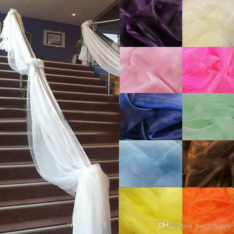 4 Diy Decorating Ideas For A Staircase: 5M Top Table Swags Sheer Organza Fabric DIY Wedding Party
