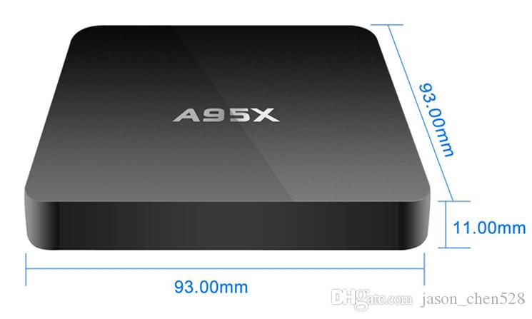 New product smart tv box A95X TV BOX S905 quad core 1GRAM/8GROM Bluetooth wifi TV BOX 4K*2K Android5.1 android media plyaer
