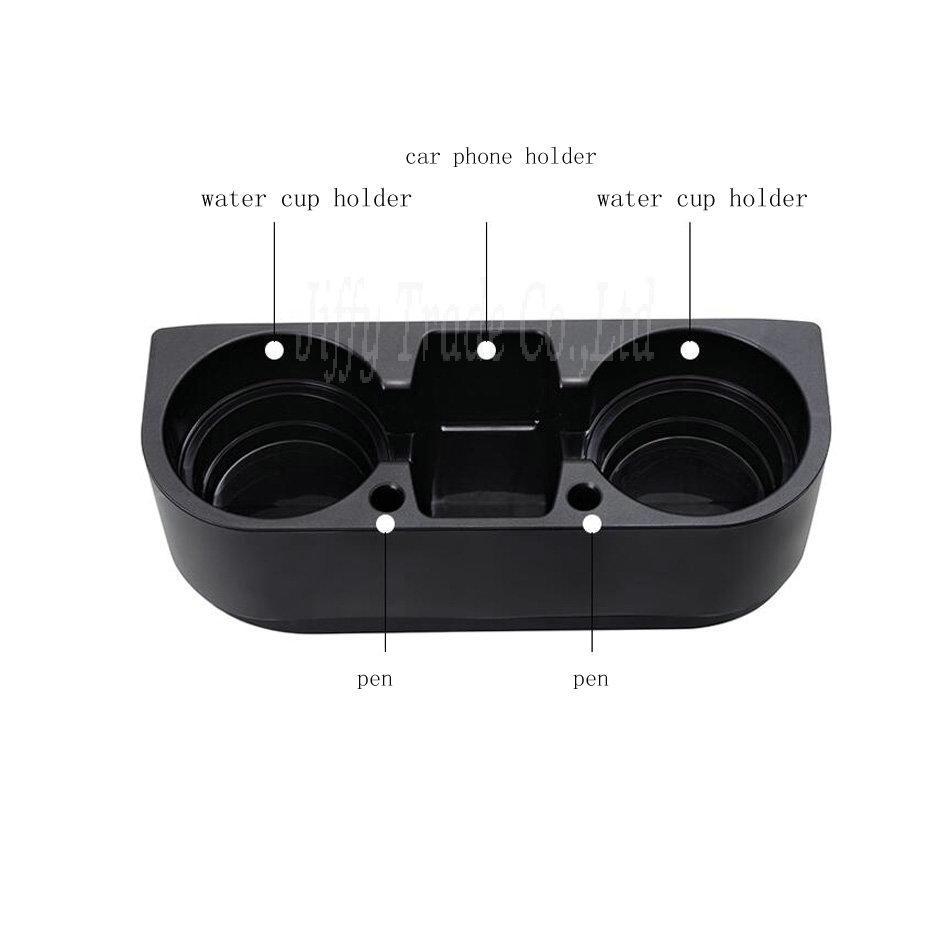 Neue Tragbare Multifunktions Fahrzeug Tasse Handyhalter Getränke Halter Handschuhfach Auto Zubehör colro: schwarz