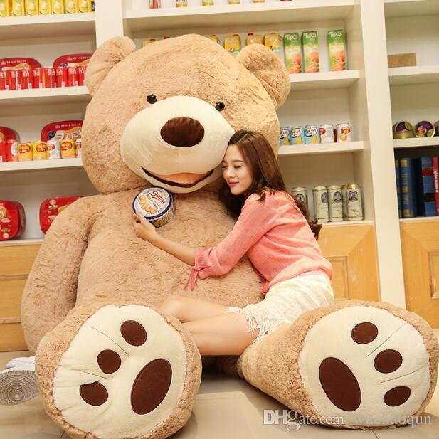 2017 Atacado 160 cm gigante enorme grande brown teddy bear cover / shell bicho de pelúcia de pelúcia brinquedo macio
