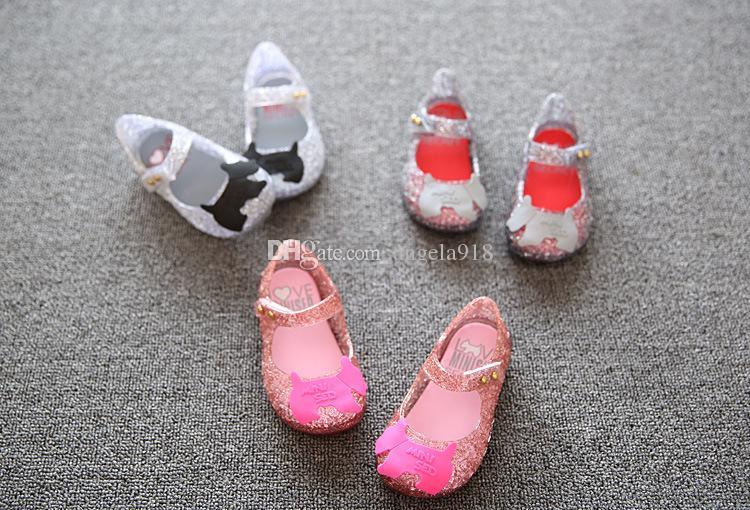 Melissa Campana Zig Zag chaussures de princesse pour enfants Sandales creux PVC chaussures souples en bas 24-29 de C742 livraison gratuite