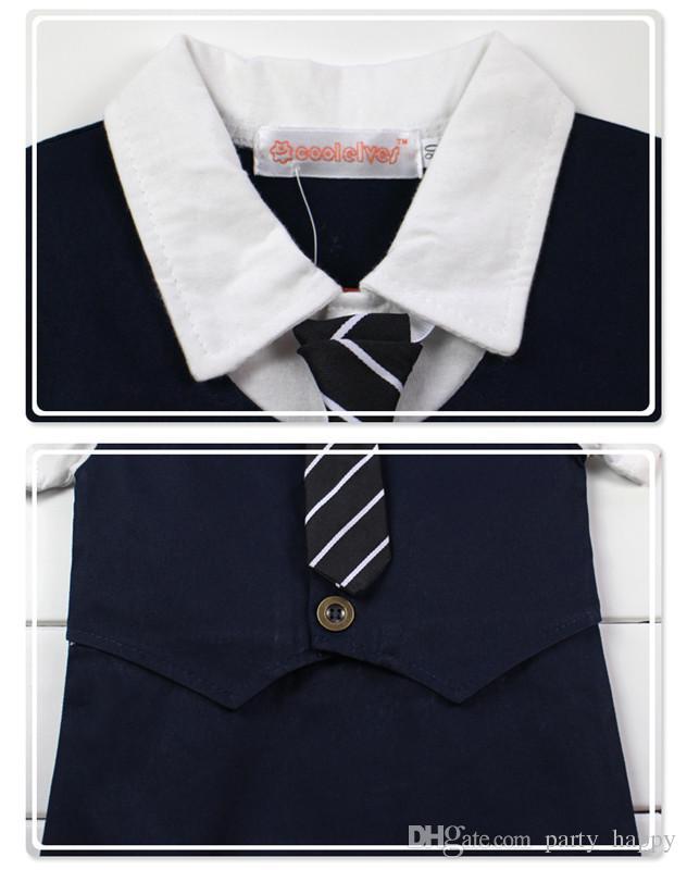 2016 bebê meninos infantil toddlers cavalheiro terno chapéu bodysuit verão menino cavalheiro laço gravata subir roupas com mangas curtas camisa meninos