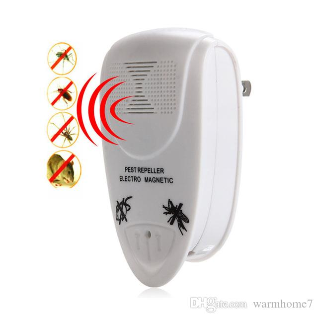 Pest Control 2017 Home Use Eu Plug Electronic Ultrasonic Indoor Anti Mosquito Insect Pest Killer Magnetic Repeller White Rodent Control