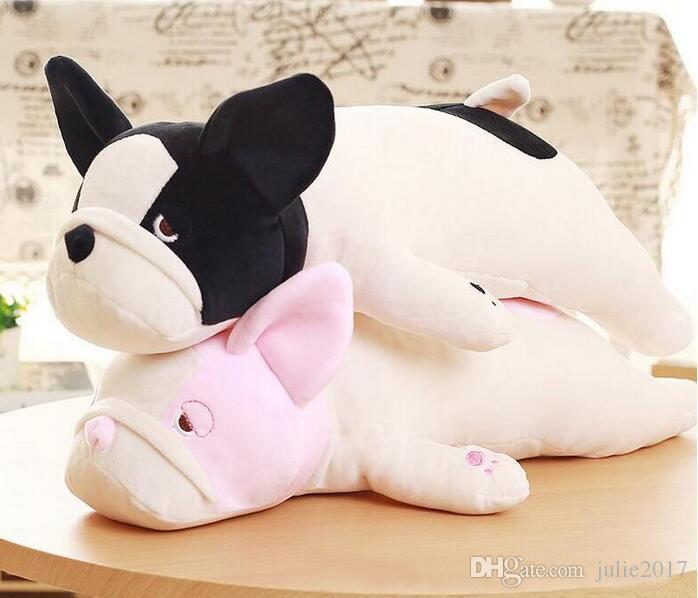 2019 Eiderdown Cotton Lying Dog Plush Toy French Bulldog Doll