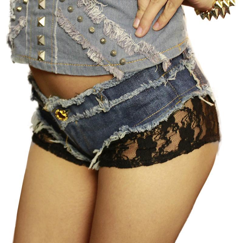 2017 Lace Women Denim Jeans Shorts Hot Short Ladies Jeans Fashion ...