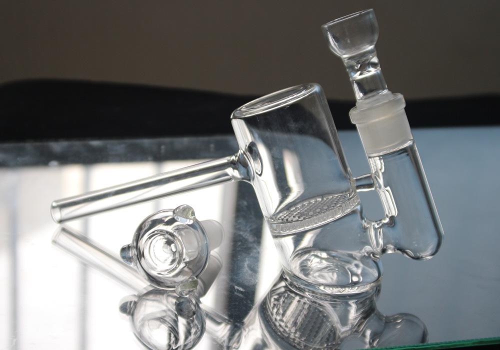 새로운 유리 버블 빗 퍼크 유리 해머 기억 만 물 파이프 담배를 손 담배 파이프 유리 기억 만