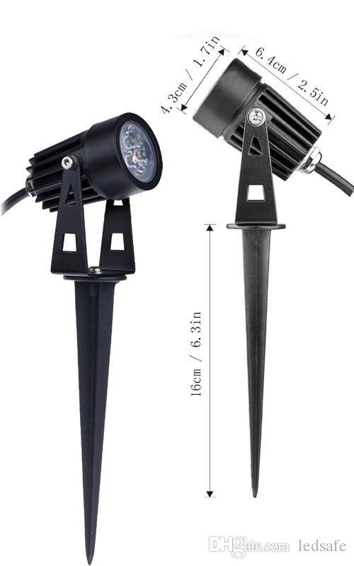 3W 6W 10W الزهر الألومنيوم في الهواء الطلق LED أضواء الحديقة مصباح المناظر الطبيعية لاعبا 12V IP65 للماء لحديقة بقعة إضاءة RGB + IP67 محول