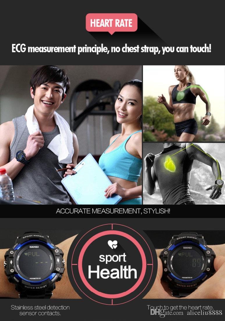 Best Selling New Life Men 3D Pedometer Heart Rate Monitor Calories Counter Fitness Tracker Digital Display Watch Outdoor Sports Watches