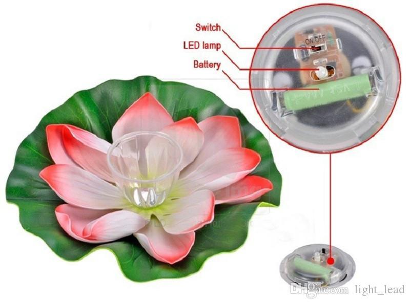 Impermeabile Solar Floating LED Lotus luce RGB Cambiare colore fiore Lampada da notte stagno Piscina decorazione del giardino