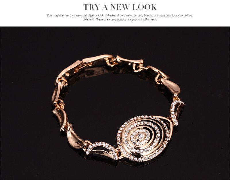 Set di gioielli perline africani placcato in oro 18k di cristallo austriaco accessori da sposa collana bracciale orecchini anelli set