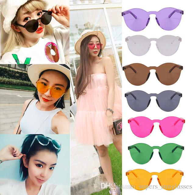 bade58c3f4 The New Korean Outdoor Plastic Sunglasses Retro Glasses Without Frame UV400  Korean Design In A Stylish Appereance Cool Sunglasses Custom Sunglasses From  ...