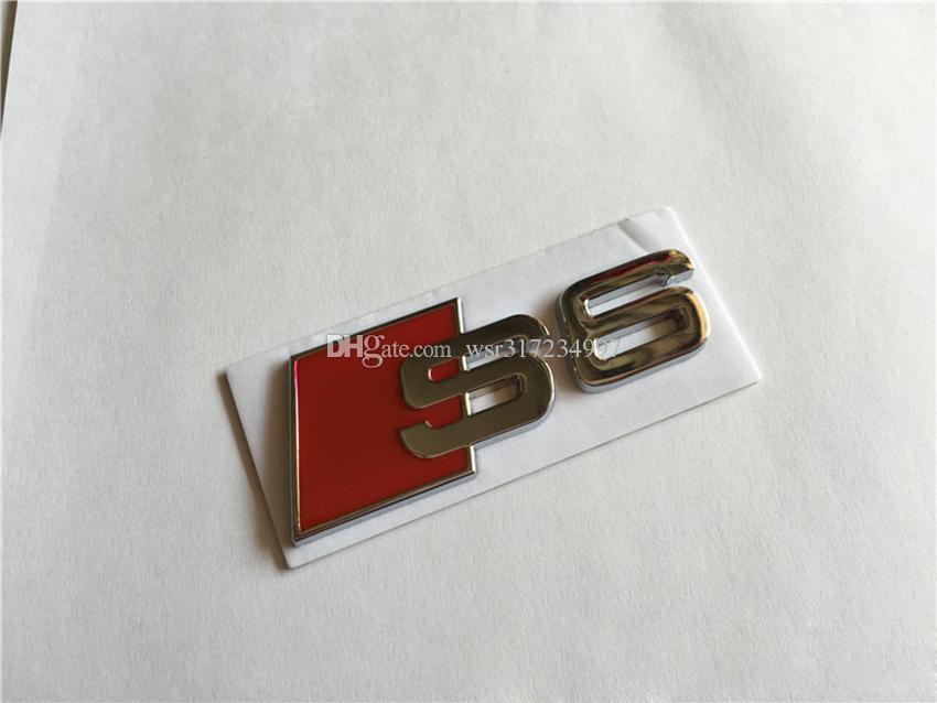10 pezzi / lotto All'ingrosso 3D Metal Car emblemi distintivi del cromato adesivi S3 S4 S5 S6 S8 Audi-styling