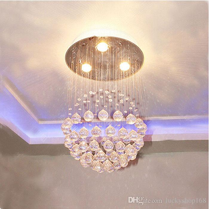 Cheap New Modern LED Ball K9 Crystal Chandeliers Fashionable Design Lamps Luxury Bulb Lights Hanging Wire Hotel Lighting DHL
