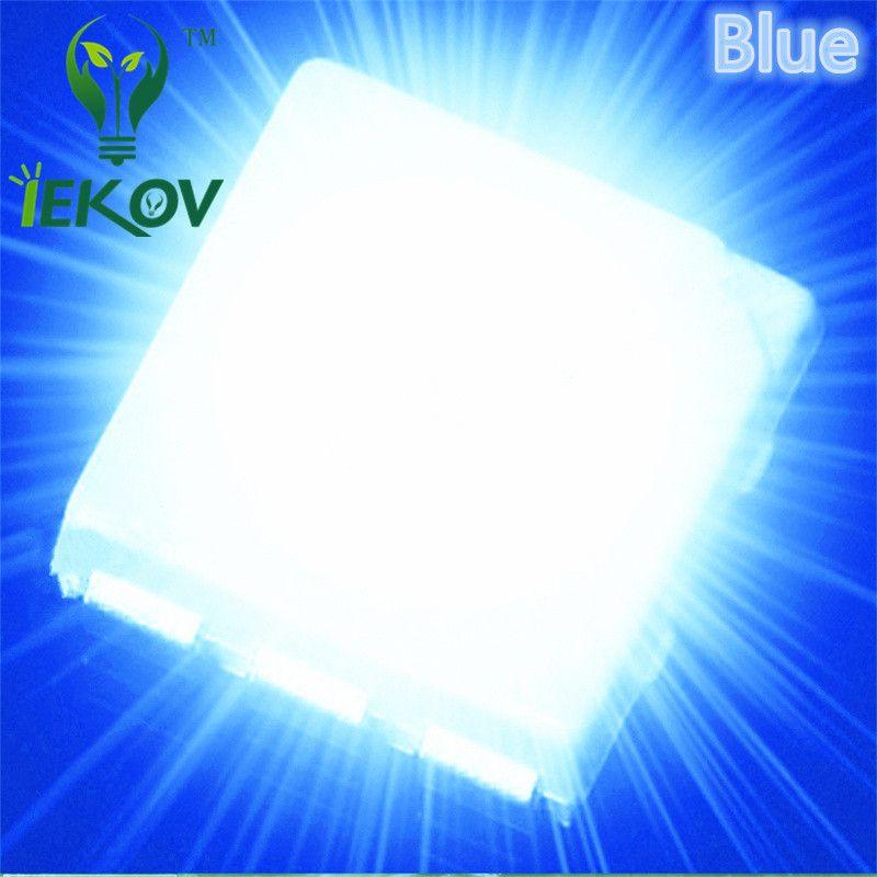 1000 adet PLCC-6 5050 Mavi SMD LED 3-CHIPS Ultra Parlak Işık Yayan Diyotlar SMD / SMT Çip lamba boncuk Için otomotiv Tekne Bisikleti DIY