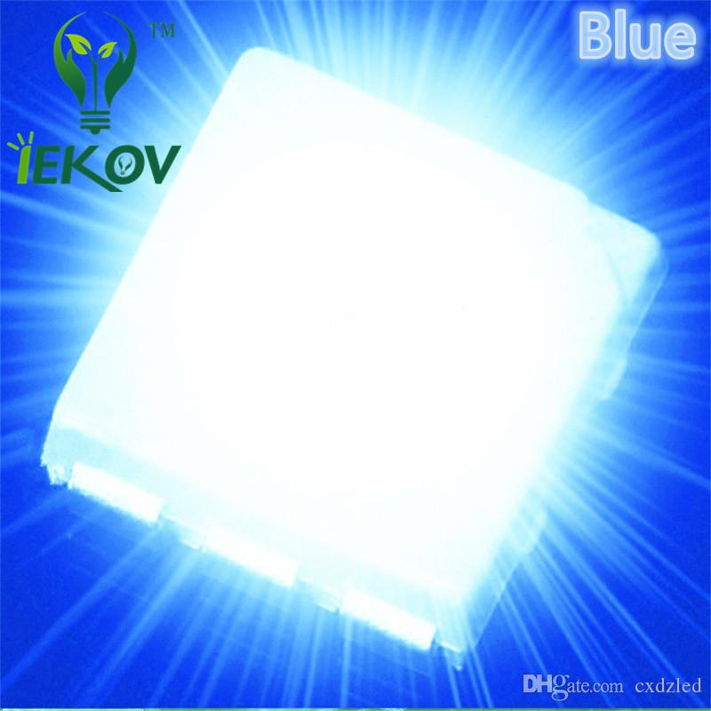 High Quality PLCC-6 5050 SMD Blue led Super Bright Light Diode 465-475nm For Bike DIY SMD/SMT Chip lamp beads