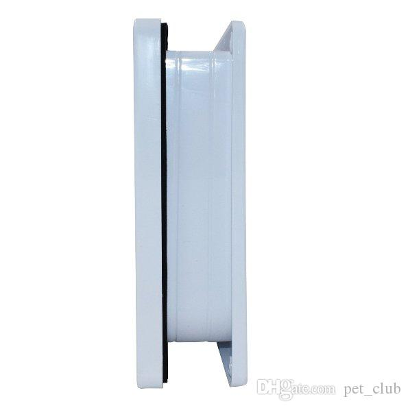 Indoor and Outdoor 4 Way Locking Cat Door Cat Safe Flap Lockable for Small Dog Puppy White 3 sizes available Exit and Entryi