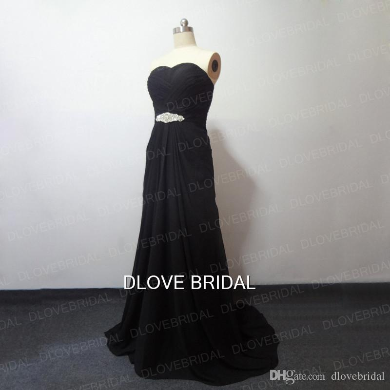 be93ee6d5b Black White Chiffon Column Wedding Dress Real Images Strapless Sweetheart  Color Bridal Gowns Dresses Crystal Perals Corset Vestido de Noivas