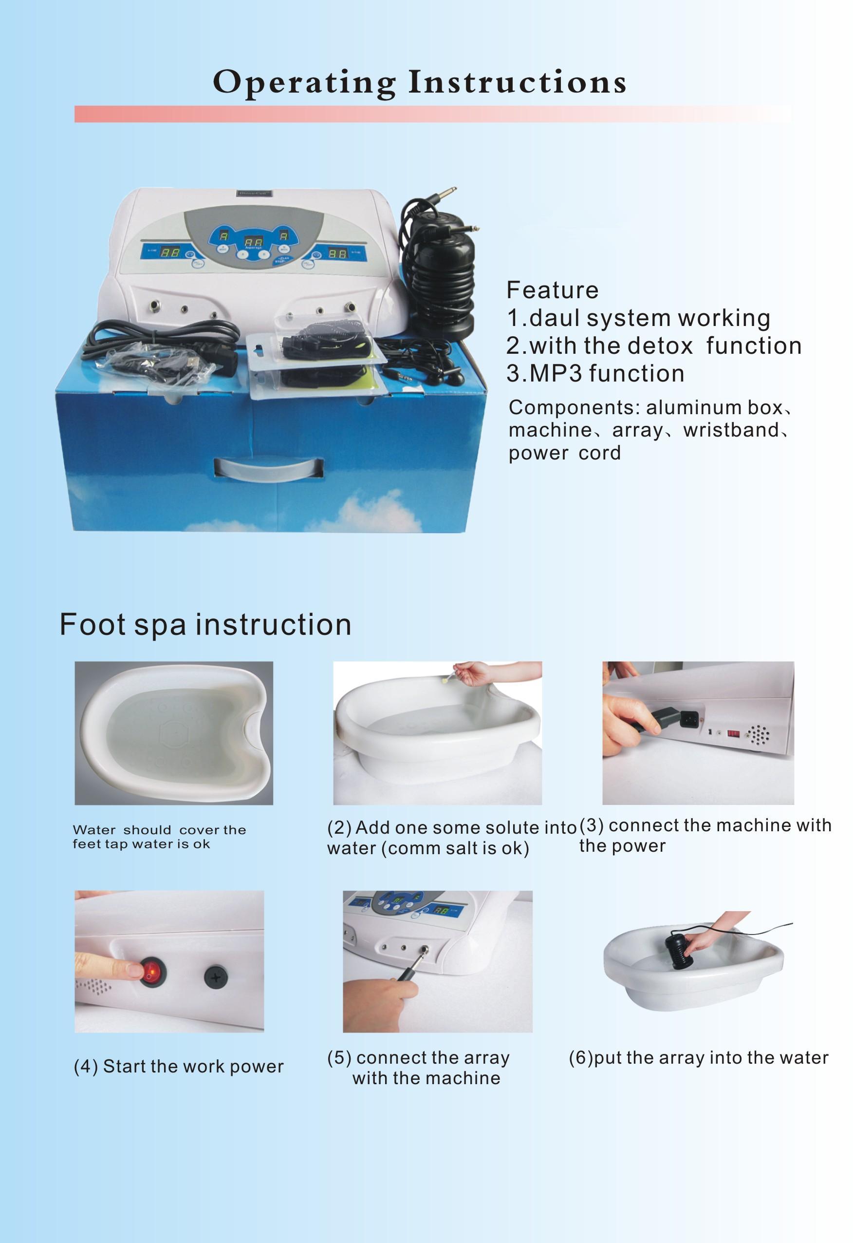 1 조각 무료 빠른 배송 DHL / Fedex A10 듀얼 해독 발 스파 기계 이온 클렌저 Footbath 이온 해독 해독 기계 이온 발 스파