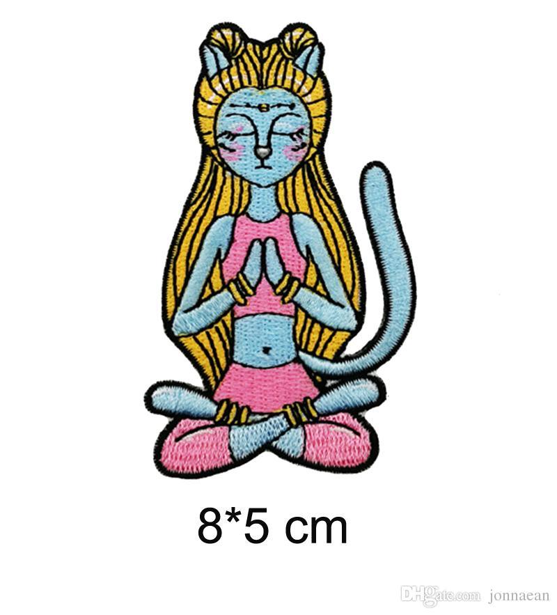 Personnage de dessin animé spécial bleu Enchanteresse Avatar fille broderie fer sur ou coudre sur Patch 8 * 5 CM Livraison gratuite