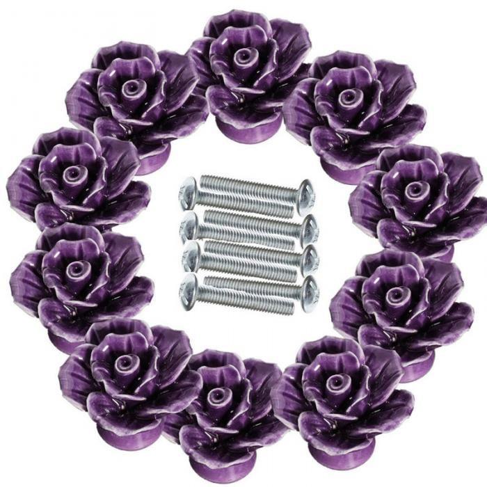 High Quality Rose Flower Ceramic Door Knob Cabinet Kitchen Cabinet Pull Drawer Handle Vintage Button Ceramic Cupboard Handle