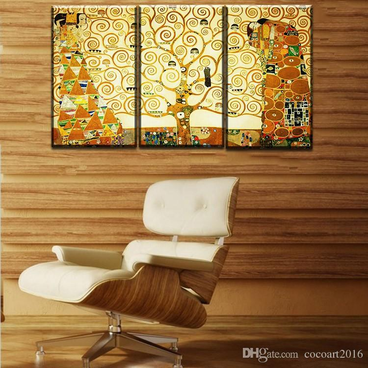 Gustav Klimt kiss Home Decor Canvas Wall Art Picture Living Room Canvas Print Modern Painting Large Canvas Art Cheap