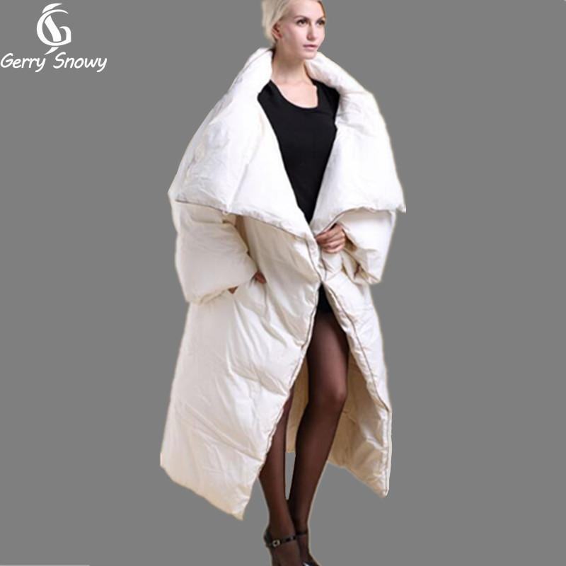 Winter Coat 2017 Long Quilt Down Coat Personality Thickening ...