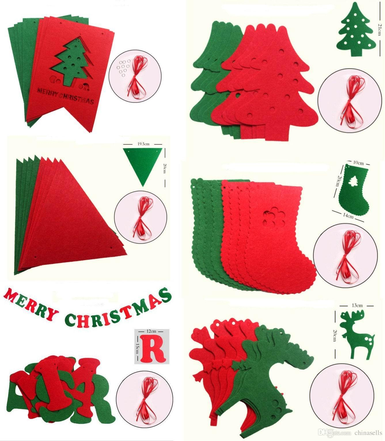 Xmas tree Ornaments hang beer sock snowman Banners window Market mall Christmas Party DIY Decorations 3M Pull flowers