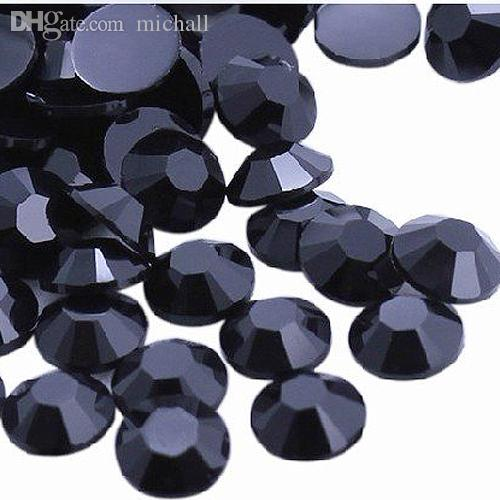 Wholesale-New Blcck 1000-Piece Flat Back Brilliant 14-Cut Round Rhinestones, 4mm
