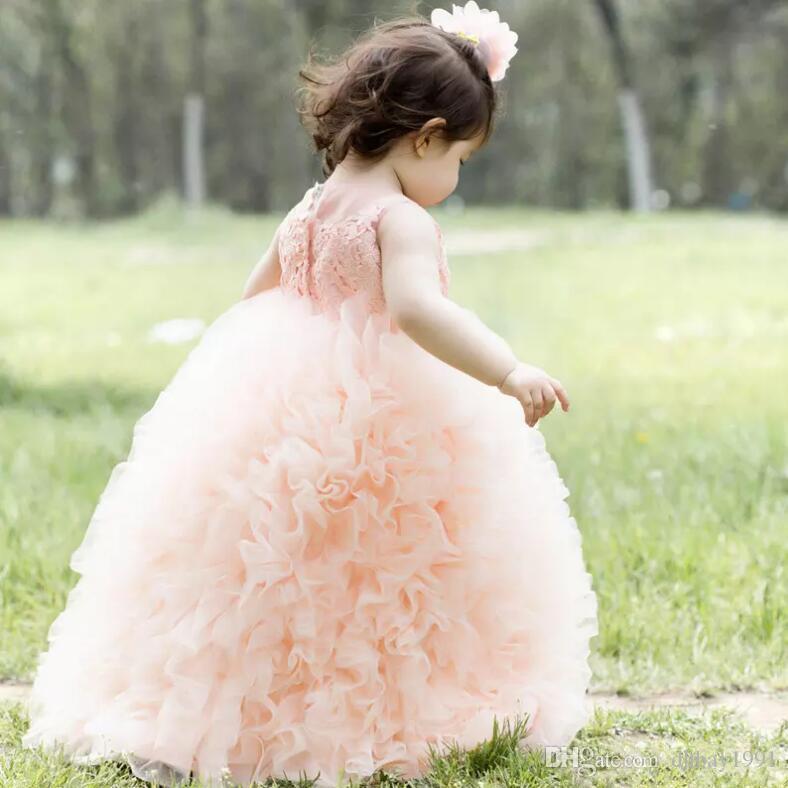 Vestidos Primera Comunion 2017 Бесплатная Доставка Малыша Glitz Pageant Платья Прекрасный Цветок Девушка Платье Бальное Платье