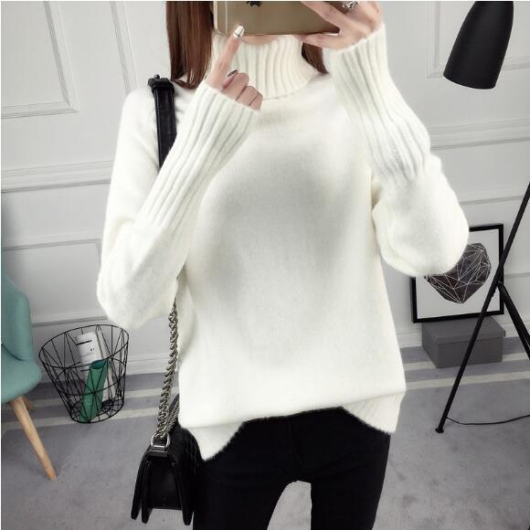 2018 2017 Starting Women Wool Cashmere Turtleneck Allover Cable ...
