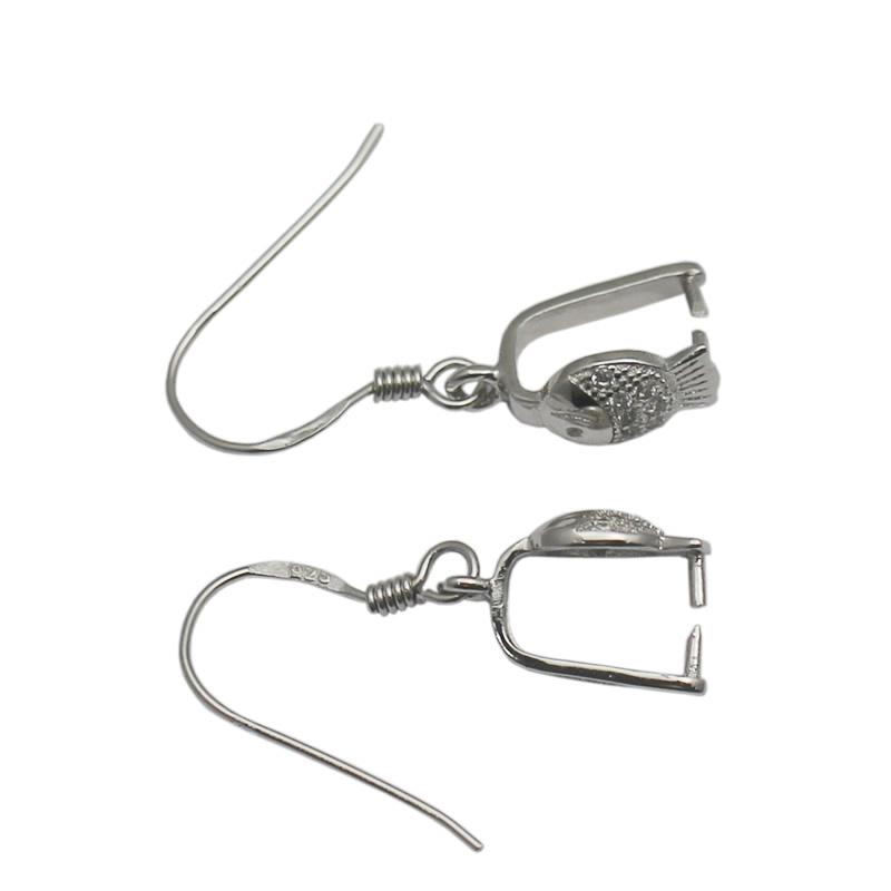 Beadsnice 925 Sterling Silver Earwire French Hook Pinch Bail Clasp Dangle Earring Connector Handmade Gift ID 34555