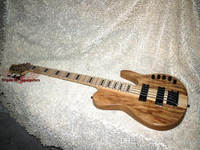 HOT SALE High Quality 5 strings Electric bass guitar Natural one piece body