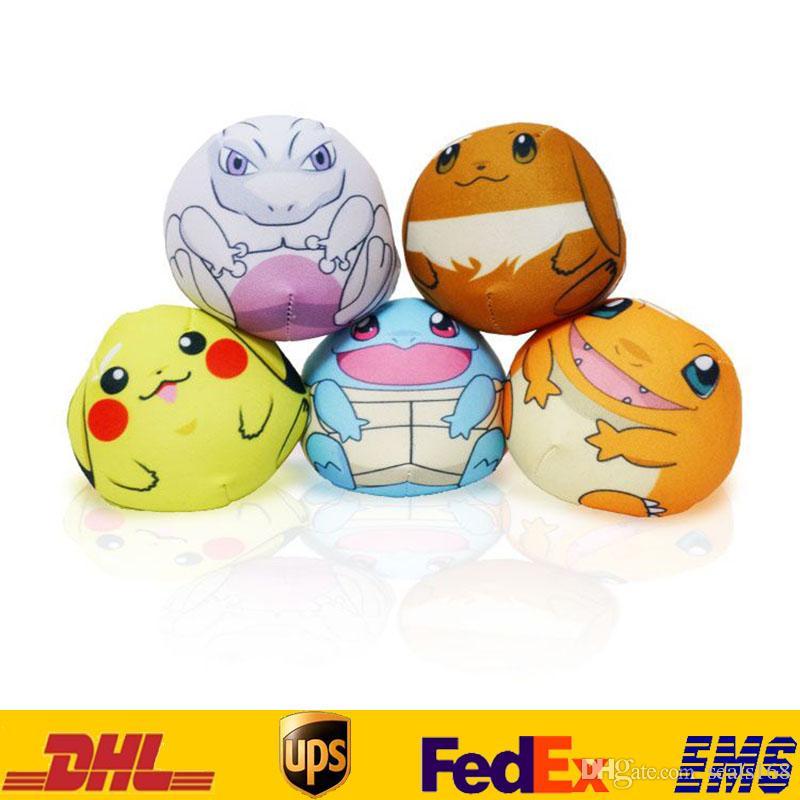 New Pikachu Mewtwo Plush Key Rings Cartoon Figure Handbag Car Cell Phone Pendant Keychain Stuffed Doll Toys Gifts HH-K02