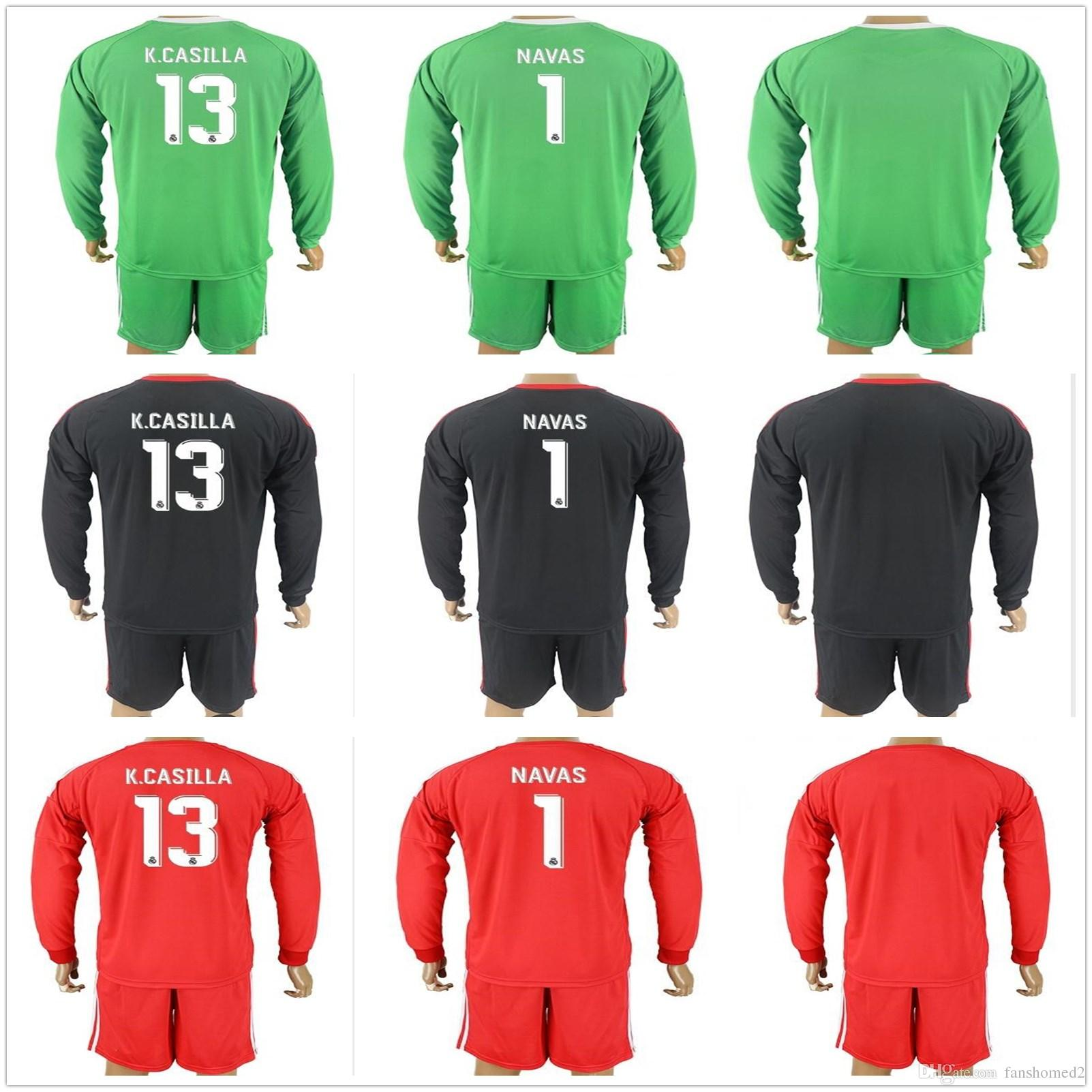 finest selection 202c5 90af4 coupon code for real madrid 1 navas green goalkeeper long ...