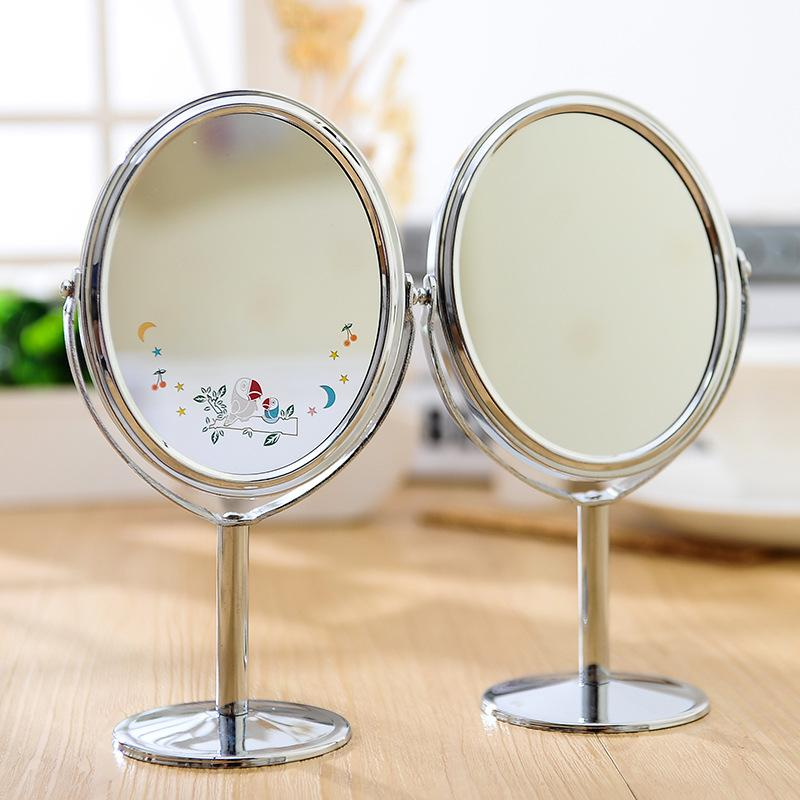 Women Beauty Dress Up Mirror Desktop Double Sides Swivel Cosmetic Makeup Round Metal Crafts1x 2 Magnification High Quality Deskt China