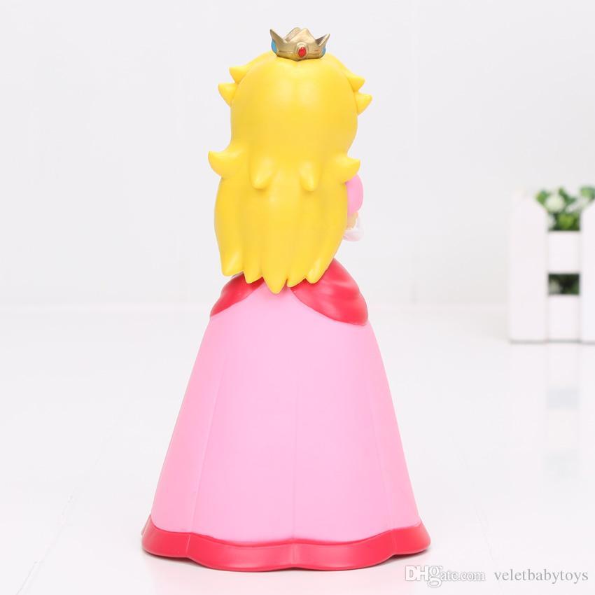 Super Mario Pink Princess Peach pvc toy figures toys Doll 5.5 inch 14cm