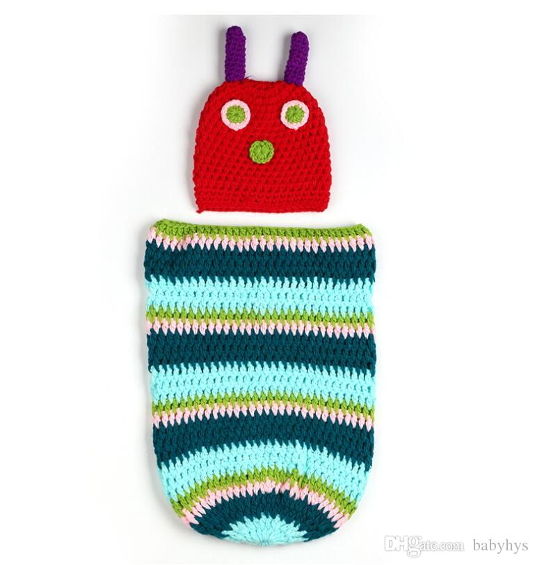 HOT DESIGN Kids photo clothing baby sleeping bags size for 0-3M pure handmade cotton yarn can custom your logo