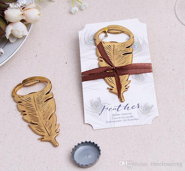 Peacock Feathers Bottle Opener Gold Bottle Opener Favors Elegant Wedding Present Gift Box Wedding Favors Party Guests Gifts Personalized Wine Bottle ...