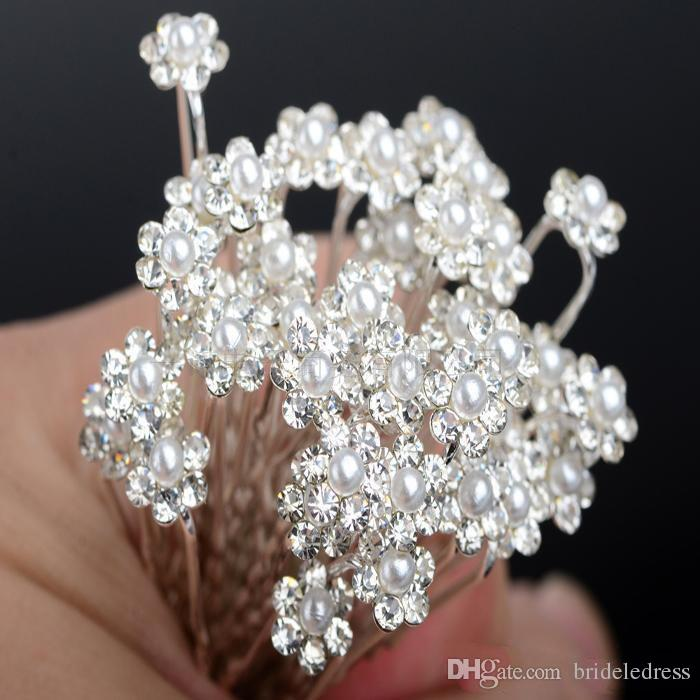 2018 New Trendy Wedding Accessories Bridal Pearl Hairpins Flower Crystal Pearl Rhinestone Hair Pins Clips Bridesmaid Women Hair Jewelr