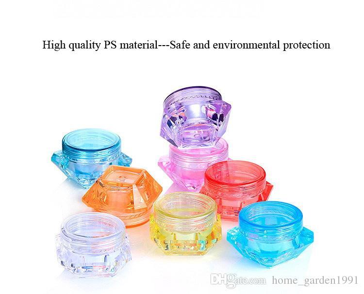 DHL FREE 3g 5g botella cuadrada transparente pequeña Cosmética Frasco vacío Olla Sombra de ojos Bálsamo labial Crema facial Contenedor de muestra es