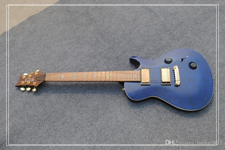 Haute qualité nouvelle arrivée bleu anniversaire 25e guitare électrique meilleur OEM pas cher