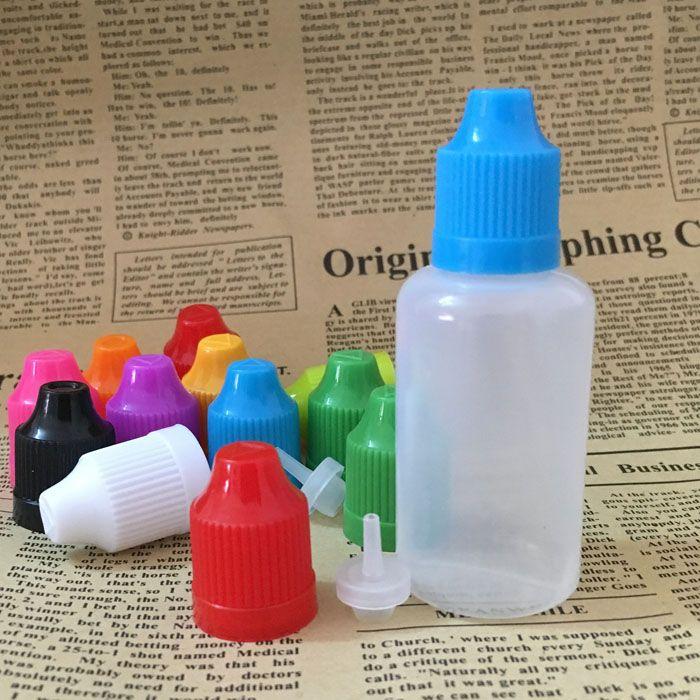 Top quality PE bottle 30ml Empty Bottles Plastic Dropper Bottle with Childproof Lid 1OZ E Liquid Oil Bottles