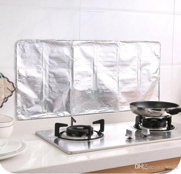 Creative Kitchen Oil Splatter Guard Gas Stove Splash Guard Nonstick Cooker Shield Removal Aluminium-foil Scald Proof Board Housware Tool