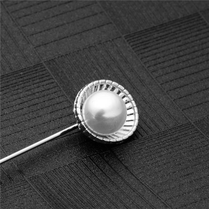 SHUANGR Haute Qualité Style Vintage Or-Couleur Feuille De Ginkgo Imitation Double Perle Big Bow Pin Broche Accessoires De Mariage