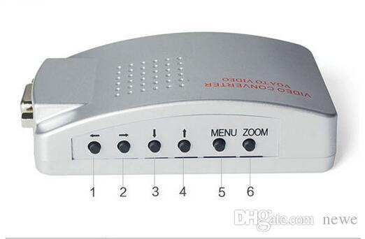 PC VGA zu TV AV RCA Adapter Konverter Video Switch Box